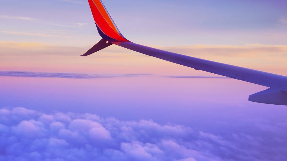 This is an airplane wing.